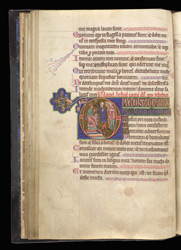 Historiated Initial With The Judgement Of Solomon, In A Psalter